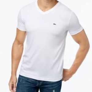 Lacoste Mens T-Shirt 100% Pima Cotton Regular Fit